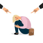 Parental pressure on teenager, bullying vector concept. Depressed student. Bullying and depressed teen school, unhappy teenager illustration